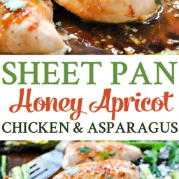 Sheet Pan Honey Apricot Chicken and Asparagus