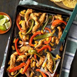 Sheet-Pan Pineapple Chicken Fajitas
