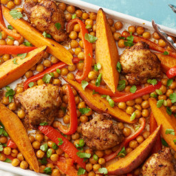 Sheet-Pan Southwest Chicken with Sweet Potatoes