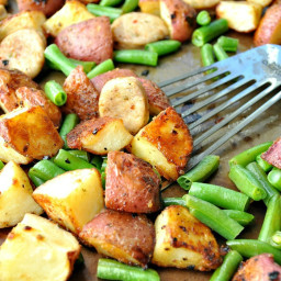 Sheet Pan Supper: Sausage, Green Beans and Crispy Potatoes