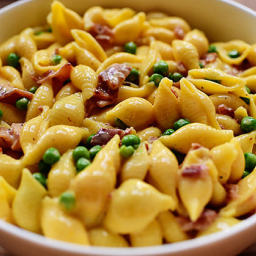 Shells and Cheese (with Bacon and Peas)