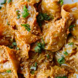 Shiitake Mushroom Tortellini with Soy Cream Sauce