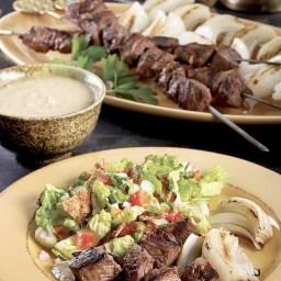 Shish Kebab with Tahini Sauce