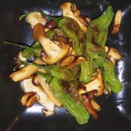 Shishito Pepper with mushrooms