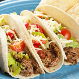 Shredded Beef Tacos, Crockpot Style