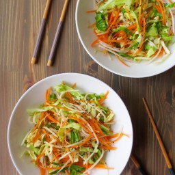 Shredded Cabbage and Ginger Salad