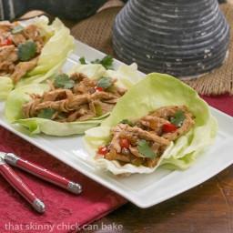 Shredded Chicken Lettuce Wraps