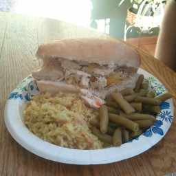 Shredded Italian Chicken Sandwiches