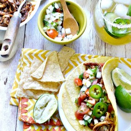 Shredded Hearts of Palm Soft Tacos
