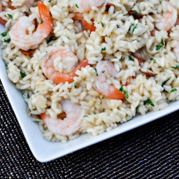 Shrimp and Bacon Risotto