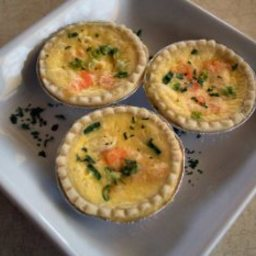 Shrimp and Cheddar Quiche