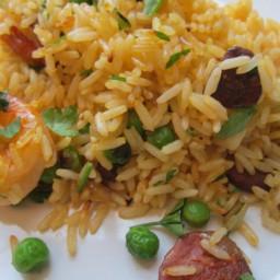 Shrimp and Chorizo Lazy Paella Recipe