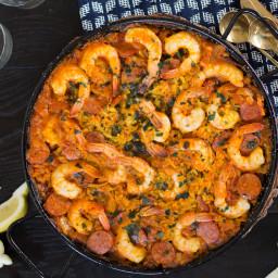 Shrimp and Chorizo Paella