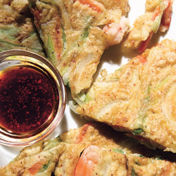 Shrimp and Green Onion Pancakes