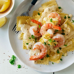 Shrimp and Pasta in Lemon Cream Sauce