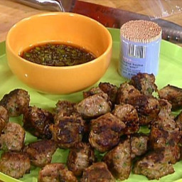Shrimp and Pork Balls with Spicy Lime Dipping Sauce