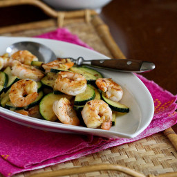 Shrimp and Zucchini Stir-Fry Recipe with Miso Lime Sauce