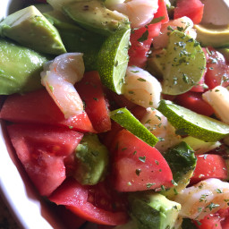 Ironworks Shrimp Avocado Tomato Cucumber Salad