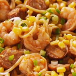 Shrimp Boil Spaghetti