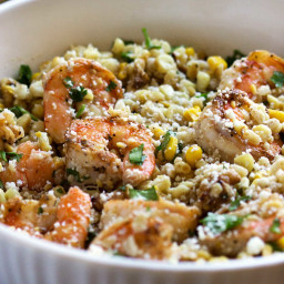 Shrimp Corn and Barley Salad