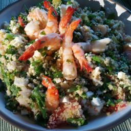 Shrimp Couscous Salad with Mint and Feta