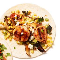 Shrimp Fajitas with Mushrooms and Corn