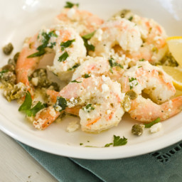 Shrimp for a Small Kitchen (Shrimp with Capers, Lemon and Feta)