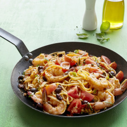 Shrimp Linguine Puttanesca