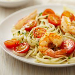 Shrimp Linguine with Tomatoes and Parmesan