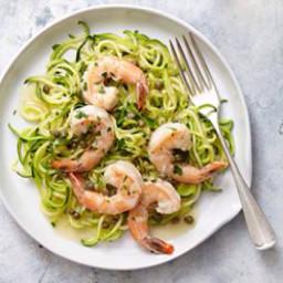 Shrimp Piccata with Zucchini Noodles