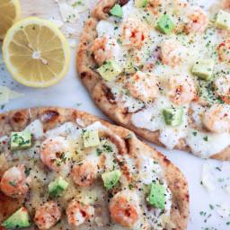 Shrimp Pizza with Lemon Sauce