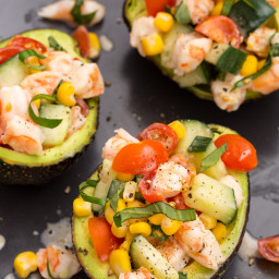 Shrimp Salad Stuffed Avocados