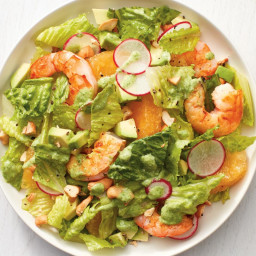 Shrimp Salad with Coconut Green Goddess Dressing