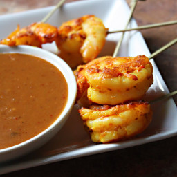 Shrimp Satay with Thai Peanut Sauce (สะเต๊ะกุ้ง)