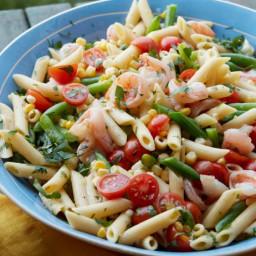 Shrimp Scampi Pasta Salad
