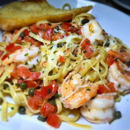 SHRIMP SCAMPI WITH CAPERS