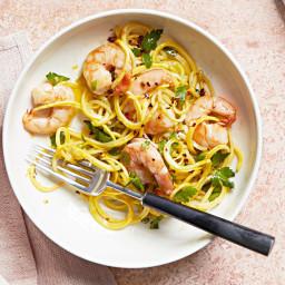Shrimp Scampi with Yellow-Squash Noodles