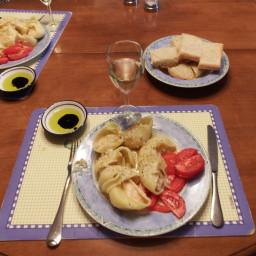 Shrimp-Stuffed Rigatoni in Chardonnay Thyme Sauce