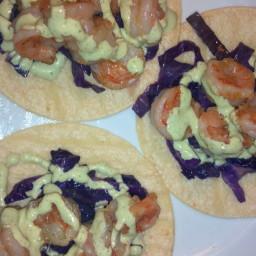 Shrimp Tacos with Creamy Cilantro dressing
