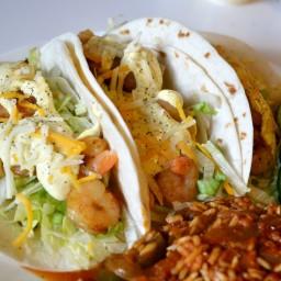 Shrimp Tacos with Spanish Style Rice