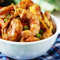 Shrimp with Crispy Ginger