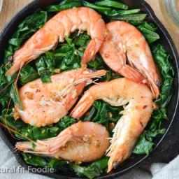 Shrimp with Swiss Chard