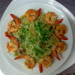 Shrimp and Portebello Mushroom Pasta