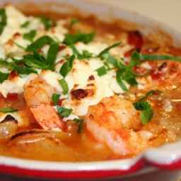 Shrimps Saganaki with Feta cheese (Messini)