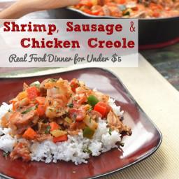 Shrimp, Sausage, Chicken Creole