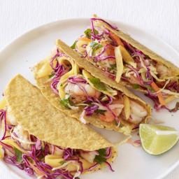 Shrimp Tacos With Mango Slaw