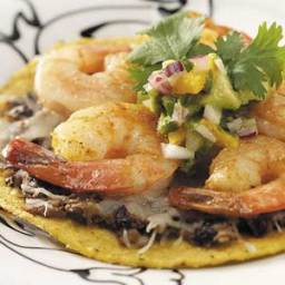 Shrimp Tostadas with Avocado Salsa Recipe
