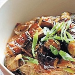 Sichuan eggplant with noodles