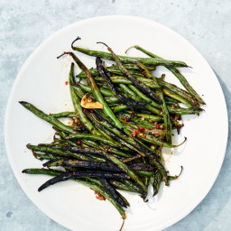 Sichuan Peppercorn and #8211;Black Bean Marinated Green Beans