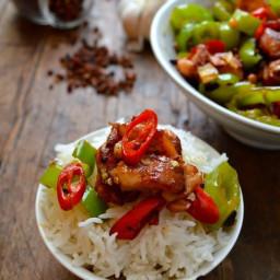 Sichuan Spicy Three Pepper Chicken